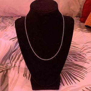 """Jewelry - 925 sterling silver 18"""" cable chain necklace! NWOT"""